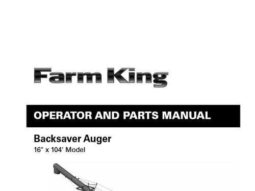 Farm King 16:104 Swingaway Auger Parts List & Manual