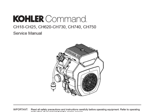 Kohler CH18 -CH750 Service Manual | Grainland Moree